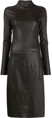 Bottega Veneta high neck fitted dress