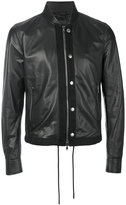 Diesel Black Gold bomber jacket - men - Cotton/Viscose/Lamb Nubuck Leather - 46