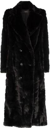 Amiri full length faux-fur coat
