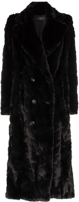 Amiri Double-Breasted Faux Fur Coat