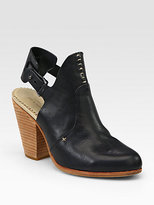 Rag & Bone Sandra Cutout Leather Slingback Ankle Boots