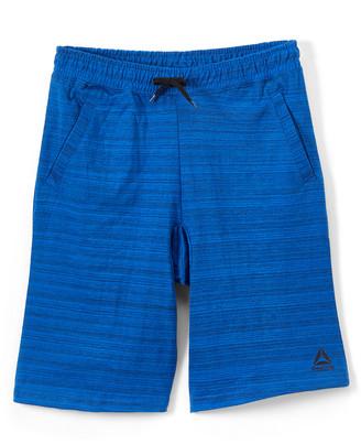 Reebok Boys' Active Shorts HEATHER - Heather Blue Space Dye Weekender Shorts - Toddler & Boys