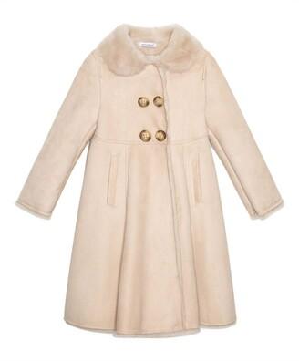 Dolce & Gabbana Kids Leather Coat (8-12 Years)