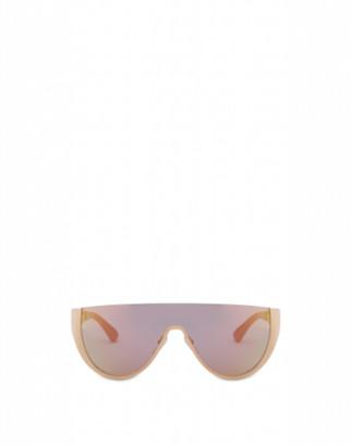 Moschino Sunglasses Logo Mask Woman Gold Size Single Size