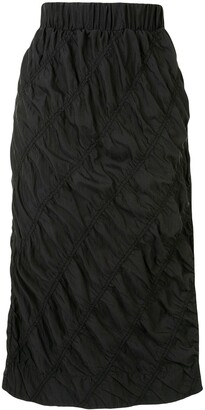 3.1 Phillip Lim Ruched Mid-Length Skirt