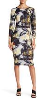 philosophy 3/4 Length Sleeve Boatneck Dress