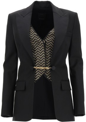 Pinko Wool Blazer With Vest