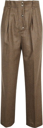 Etro Checked High Trousers