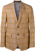 Etro checked blazer - men - Silk/Cotton/Linen/Flax/Cupro - 52