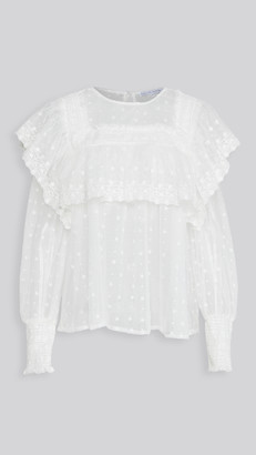 ENGLISH FACTORY Flower Embroidered Blouse