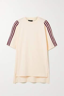 adidas Ivy Park Oversized Grosgrain-trimmed Cotton-jersey T-shirt - Peach