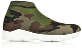 MM6 Maison Martin Margiela Camouflage Stretch-Mesh High-Top Women's Sneaker