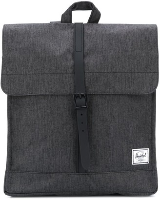 Herschel City logo-patch backpack