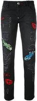 Philipp Plein appliqué embellished jeans
