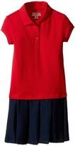 Nautica Pique Polo Pleated Dress (Little Kids)