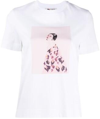 Ports 1961 illustration-print crew neck T-shirt