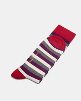 Ted Baker Striped Socks Deep Purple