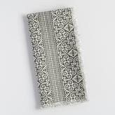 Black and White Gate Stripe Linen Napkins Set of 4