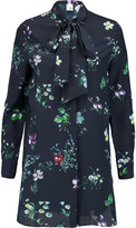 Iris and Ink Claudia floral-print pussy-bow silk-georgette blouse