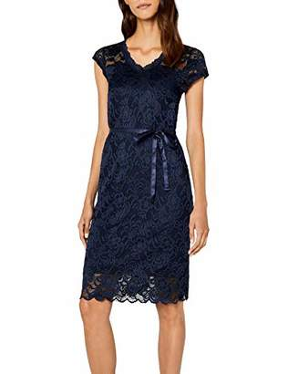 M&Co Mamalicious Short Sleeve Tie Waist Knee Length Sheer Lace Overlay Back Fastening Evening Dress L