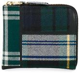 Comme des Garcons wool and leather tartan patchwork purse