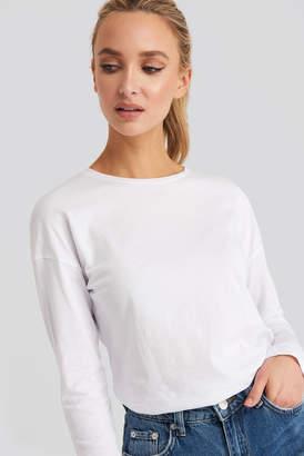 NA-KD Long Sleeve Basic Top Pink