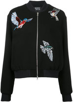 Markus Lupfer bird patch bomber jacket - women - Polyamide/Polyurethane/Viscose/Virgin Wool - L