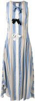 Sportmax striped bow tent dress - women - Silk - 42
