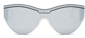 Balenciaga Unisex Round Shield Sunglasses, 99mm