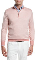 Peter Millar Crown Soft Quarter-Zip Birdseye Pullover Sweater