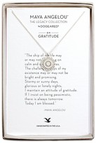 "Dogeared Maya Angelou Legacy Collection ""On Gratitude"" Necklace, 18"""