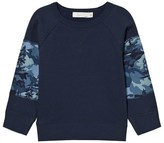Stella McCartney Navy Army Pattern Sweatshirt