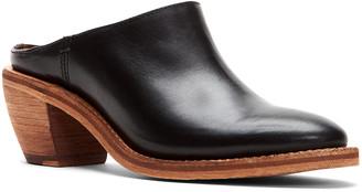 Frye Rosalia Leather Block-Heel Mules