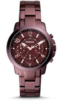 Fossil Gwynn Chronograph Wine Stainless Steel Watch