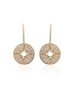 Sydney Evan Starburst Medallion French Wire Earrings