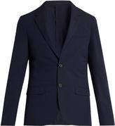 Lanvin Single-breasted seersucker wool-blend blazer