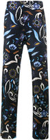 Fendi swan and floral print pyjama trousers - men - Silk - 48