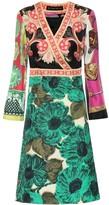 Etro Printed silk-twill minidress