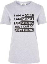 Oh My Love **'I Am A Girl' Slogan T-Shirt