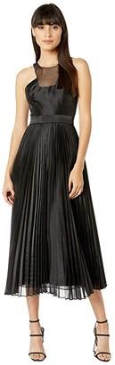 BCBGMAXAZRIA Pleated Dress (Black) Women's Dress