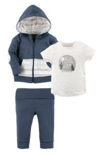 Yoga Sprout Toddler Hoodie, Tee Top and Pants, 3-Piece Set, 2T-5T