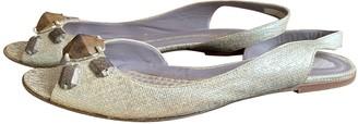 Anya Hindmarch Gold Cloth Sandals