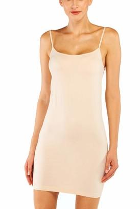 Khaya Women's Full Body Slip Shaper Basic Camisole Seamless Stretch Shapewear Dress White