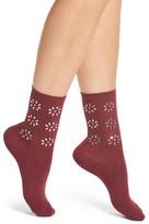 Nordstrom Women's Crystal Flower Crew Socks