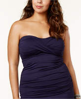 Anne Cole Plus Size Twist-Front Tankini Top Women's Swimsuit
