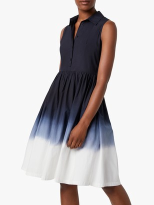 French Connection Sadiya Dip Dye Sleeveless Dress, Utility Blue