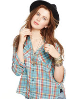 Denim & Supply Ralph Lauren Plaid Linen Utility Shirt