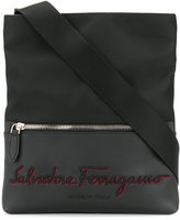 Salvatore Ferragamo embroidered logo messenger bag