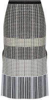 Proenza Schouler Geometric-knit wool skirt