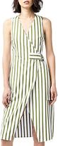 Warehouse Stripe Wrap Dress